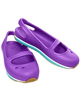 Girls' Retro Mary Jane Neon Purple/Surf 14009 - Crocs