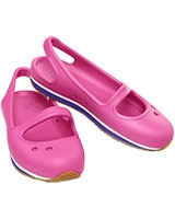 Girls' Retro Mary Jane Fuchsia/Ultraviolet 14009 - Crocs