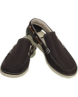 Men's Beach Line Boat Slip-On Espresso/Stucco Shoe 15386 - Crocs