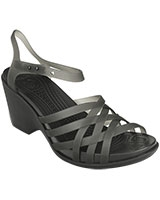 Women's Huarache Black/Black Wedge 15392 - Crocs