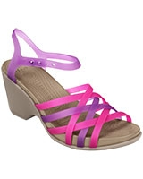 Women's Huarache Neon Purple / Mushroom Wedge 15392 - Crocs