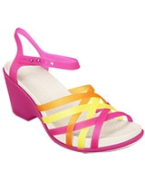 Women's Huarache Fuchsia/Grapefruit Wedge 15392 - Crocs
