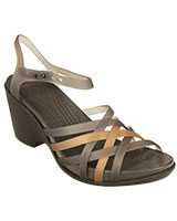 Women's Huarache Bronze/Espresso Wedge 15392 - Crocs