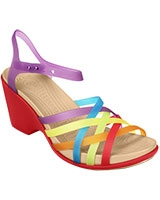 Women's Huarache Multi/Geranium Wedge 15392 - Crocs
