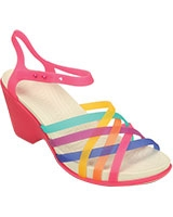 Women's Huarache Multi/Candy Pink Wedge 15392 - Crocs