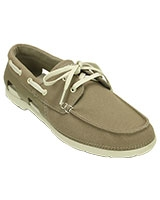 Men's Beach Line Lace-Up Boat M Khaki/Stucco Shoe 200247 - Crocs
