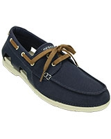 Men's Beach Line Lace-Up Boat M Navy/Stucco Shoe 200247 - Crocs