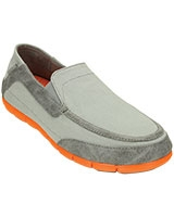 Men's Stretch SoleTorino Light Grey/Orange Loafer 201211 - Crocs