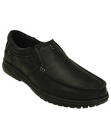 Men's Shaw Leather Black/Black Loafer 202052 - Crocs