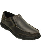 Men's Shaw Leather Espresso/Black Loafer 202052 - Crocs