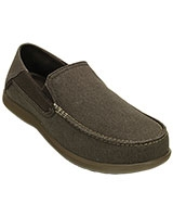 Men's Santa Cruz 2 Luxe Espresso/Walnut Loafer 202056 - Crocs
