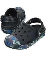 Kids' Bump It Camo K Navy Clog 203139 - Crocs