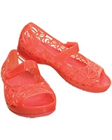Kids' Isabella Jelly PS Coral Flat 203281 - Crocs