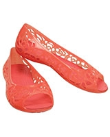 Kids' Isabella Jelly GS Coral Flat 203282 - Crocs