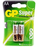 Super Alkaline Batteries AA Pack Of 2 GP15A - GP