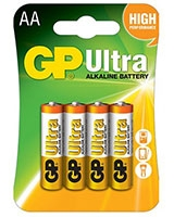 Ultra Alkaline Battteries AA Pack Of 4 GP15AU - GP