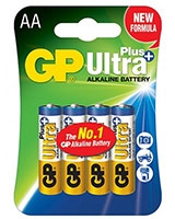 Ultra Plus Alkaline Battteries AA Pack Of 4 GP15AUP - GP