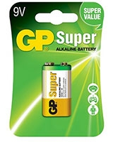 Super Alkaline 9 Volt Battery Pack Of 1 GP1604A - GP
