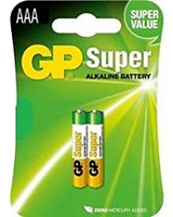 Super Alkaline Batteries AAA Pack Of 2 GP24A - GP