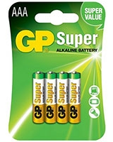 Super Alkaline Batteries AAA Pack Of 4 GP24A - GP