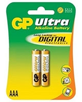 Ultra Alkaline Batteries AAA Pack Of 2 GP24AU  - GP