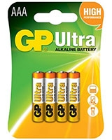 Ultra Alkaline Batteries AAA Pack Of 4 GP24AU - GP