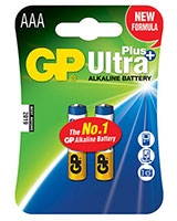 Ultra Plus Alkaline Batteries AAA Pack Of 2 GP24AUP  - GP