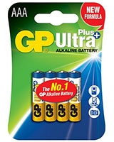 Ultra Plus Alkaline Batteries AAA Pack Of 4 GP24AUP  - GP