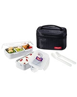Black Lunch Box 2 Pieces Set - Lock & Lock