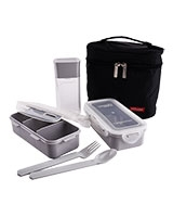 Black Lunch Box 3 Pieces  Set HPL758DB - Lock & Lock