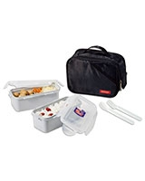 Black Lunch Box 2 Pieces Set HPL762DB - Lock & Lock