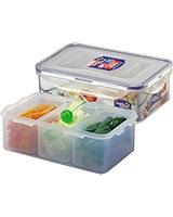 Rectangular Short Food Container With Divider 1.0 Liter - Lock & Lock