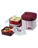 Dark Purple Lunch Box 3 Pieces Set HPL823DP - Lock & Lock