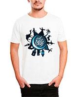 Printed T-Shirt White IB-T-M-A-75 - Ibrand