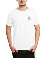 Printed T-Shirt White IB-T-M-A-78 - Ibrand