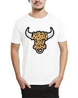 Printed T-Shirt White IB-T-M-A-79 - Ibrand