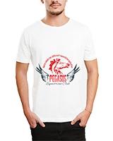 Printed T-Shirt White IB-T-M-C-004 - Ibrand