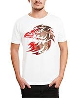 Printed T-Shirt White IB-T-M-C-007 - Ibrand