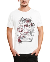Printed T-Shirt White IB-T-M-C-010 - Ibrand