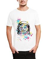 Printed T-Shirt White IB-T-M-C-014 - Ibrand