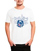 Printed T-Shirt White IB-T-M-C-015 - Ibrand