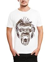 Printed T-Shirt White IB-T-M-C-016 - Ibrand