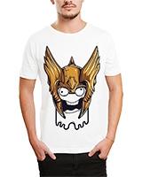 Printed T-Shirt White IB-T-M-C-017 - Ibrand