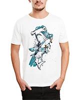 Printed T-Shirt White IB-T-M-C-018 - Ibrand