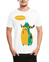 Printed T-Shirt White IB-T-M-C-026 - Ibrand