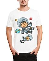 Printed T-Shirt White IB-T-M-C-029 - Ibrand