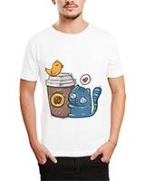Printed T-Shirt White IB-T-M-C-034 - Ibrand