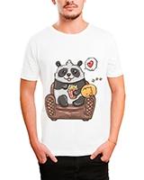 Printed T-Shirt White IB-T-M-C-035 - Ibrand