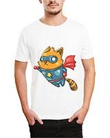 Printed T-Shirt White IB-T-M-C-038 - Ibrand
