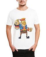 Printed T-Shirt White IB-T-M-C-040 - Ibrand